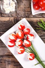 easter appetizer flower