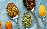 spices on the spoon - 187094705