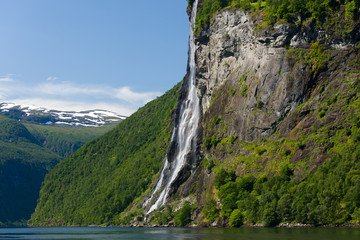 Geirangerfjord seven sisters