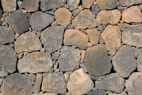 In de dag Baksteen muur Steinmauer