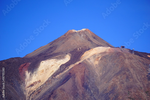 Fotobehang Aubergine el teide montana guajara teneryfa ocean