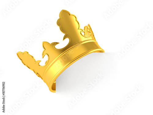 Crown with blank space