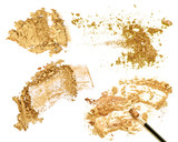 gold cosmetics powder set isolate. - 187117543