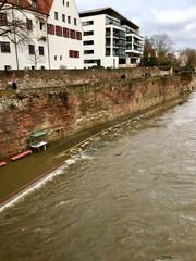 Donauradweg überschwemmt