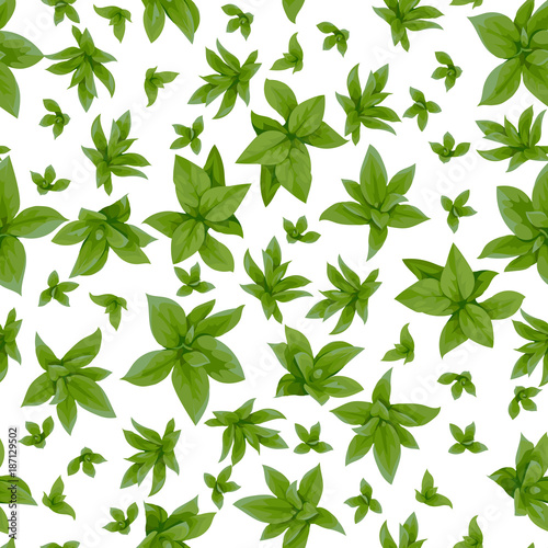 Seamless pattern with spring green leaves 2