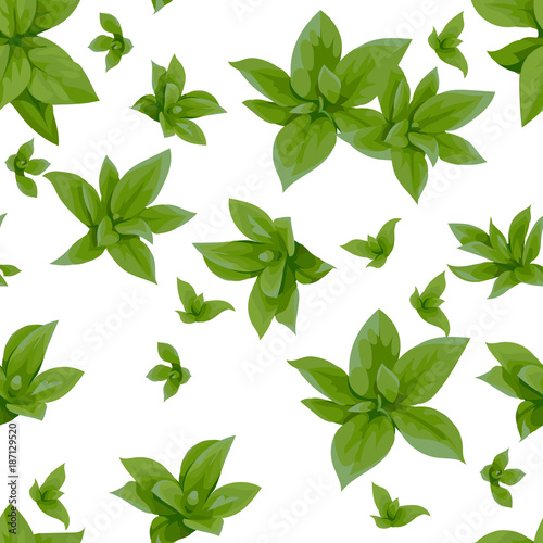 Seamless pattern with spring green leaves 3