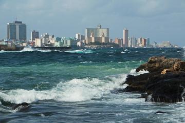 View of the coast of Havana from Castillo de Los Tres Reyes del Morro
