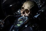 tête de mort sur moto - 187143184