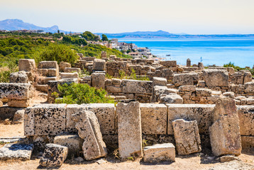 Selinunte, Italy, Sicily. Ancient Greek city on the south coast of Sicily, Italy. Acropolis of Selinunte.