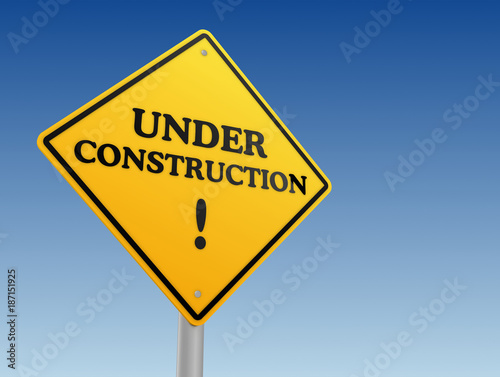 under construction sign concept       3d illustration