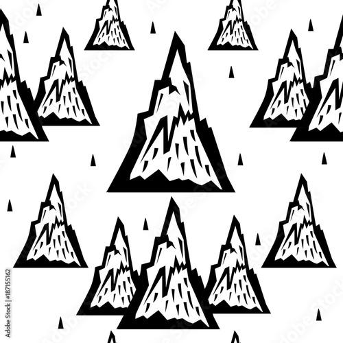 Seamless pattern of mountains - 187155162
