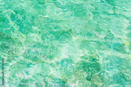 Foto op Canvas Groene koraal Traumhaftes Meer