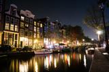 運河の街 アムステルダムの夜景 - 187157365