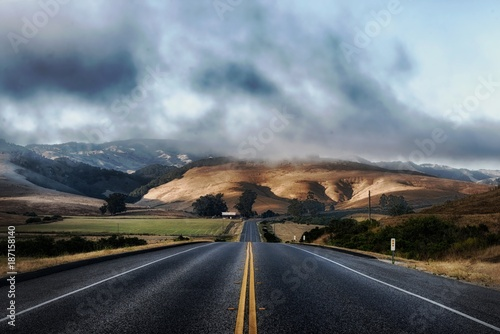 road, highway, landscape, sky, desert