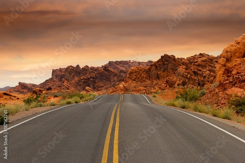road, highway, desert