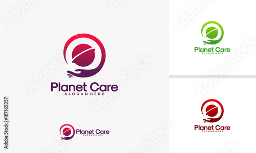 Planet Care logo, Global Care logo designs vector, World Charity logo template - 187165357