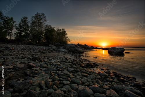 Aluminium Strand Lake Winnipeg Sunset