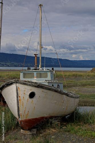 Aluminium Schip Boat Graveyard in Homer, Alaska