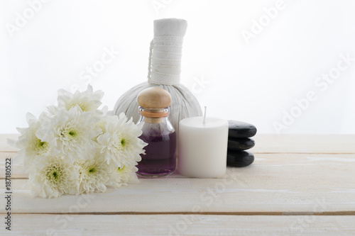 spa object on wood background - 187180522