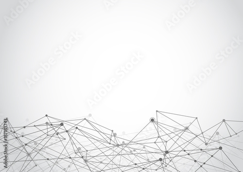 Futuristic shape abstract technology. Computer generated background. Vector illustration