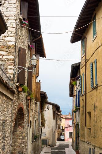 Keuken foto achterwand Smal steegje Gasse, Porto Portese, Italien