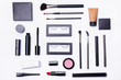 Different makeup objects and cosmetics
