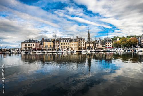 Fotobehang Schip Old port of Honfleur, Normandy, France