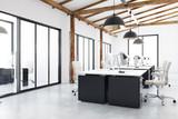 Light coworking office interior - 187189706