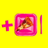 Slice of pizza. Pizza Lover Concept. Flat lay minimal art - 187191556