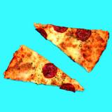 Slices of pizza. Fast Food Art Flat lay minimal design - 187191761