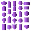 Set of violet stickers, labels, icons and banners