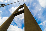 A Tower of the Humber Bridge, which connects Yorkshire to Lincolnshire, England, UK. - 187202754