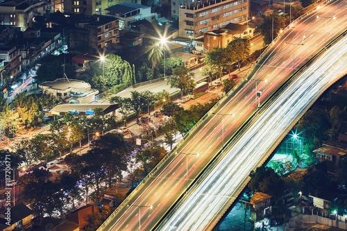 Foto op Canvas Nacht snelweg Bangkok at the night
