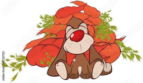 Papiers peints Chambre bébé Illustration of a Cute Rabbit. Cartoon Character