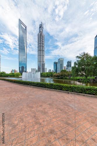 Foto Murales Shanghai Lujiazui Center Green Park, China