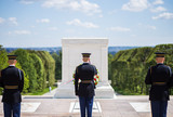 Changing of the guard at Arlington National Cemetery (tomb of the unknown soldier) - 187208114