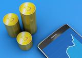 Telefono e Bitcoin, criptovaluta, moneta elettronica, moneta virtuale, transizioni