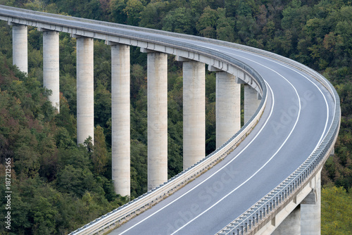 Foto op Plexiglas Liguria Large highway viaduct