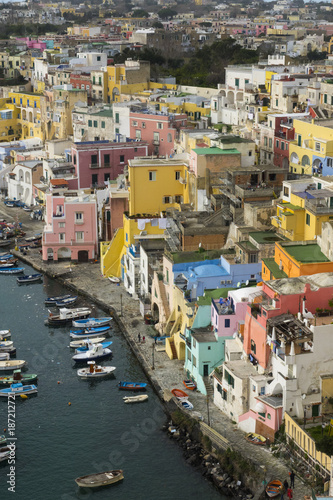Fotobehang Napels Procida is one of the Flegrean Islands off the coast of Naples in southern Italy