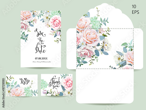 Wedding set with invitations and an envelope 1