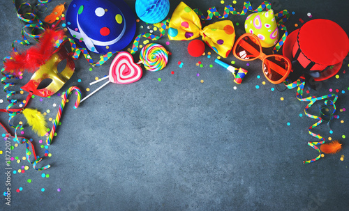 Foto op Aluminium Kasteel Colorful birthday or carnival background