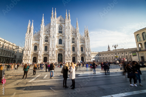 Deurstickers Milan Cathedral of Milan, the fashion and design capital of the world, Italy