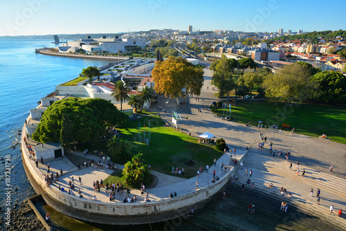 Staande foto Herfst Lisbon , capital of Portugal , view from Belem Tower