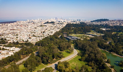 San Francisco cityscape aerial view