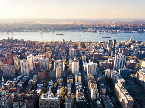 Foto op Plexiglas New York Stunning aerial view of Manhattan and New York