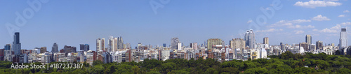 Papiers peints Palerme Panorama von Buenos Aires, Hauptstadt Argentiniens