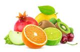 Fruits isolated on white background - 187245778