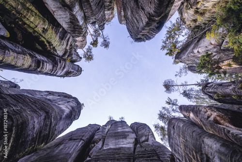 """""""Elephant square"""" in Adrspach Rocks, part of Adrspach-Teplice landscape park in Poster"""