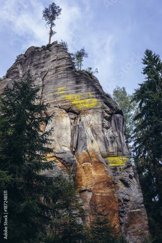 Adrspach Rocks, part of Adrspach-Teplice landscape park in Broumov Highlands reg Poster