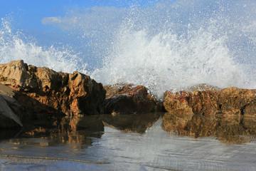 Season of large waves at sea